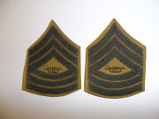 B2542p Usmc 1920and039s -1930and039s Chevron 2nd Leader Of Band Rank Summer Khaki Pair R7a