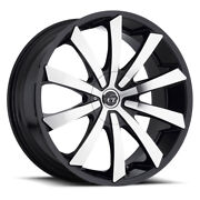22 Vct V48 Black Machine Wheelsandtires Fit F150 Navigator Expedition 6 Lug