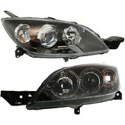 Headlight Set For 2004-2009 Mazda 3 Hatchback Left And Right 2pc