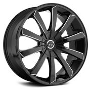 22 Inch Vct V48 Black Milled Wheels And Tires Fit 6 X 139 Great Deals