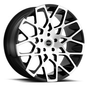 22 Inch Strada Buca Black Polish Wheels And Tires Fit 5 X 115 Great Deals
