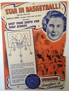 Isabelle Payne Late 1930and039s Wheaties Basketball Panel No 8