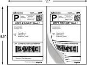 20000 Half Sheet Shipping Labels For Paypal, Ebay, Usps Ups Ave5126 Comp