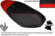 Red And Black Custom Fits Honda Nsc 110 Wh Vision Dual Leather Seat Cover