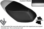 White And Black Custom Fits Honda Nsc 110 Wh Vision Dual Leather Seat Cover