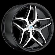 Mach 3 2crave Black Machine Wheels And Tires Fit 5 X 100 Great Deals