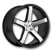 Mach 5 18 Inch 2crave Black Machine Wheels And Tires Fit 5 X 100 Great Deals