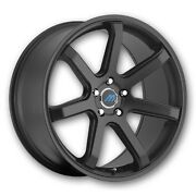 Mach 7 18 Inch 2crave Satin Black Wheels And Tires Fit 5 X 114.3 Great Deals
