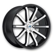 Mach 10 18 Inch 2crave Black Machine Wheels And Tires Fit 5 X 114.3 Great Deals