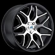 Mach 8 18 Inch 2crave Black Machine Wheels And Tires Fit 5 X 114.3 Great Deals