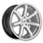 Mach M7 19 Inch 2crave Hyper Silver Wheels And Tires Fit 5 X 114.3 Great Deals