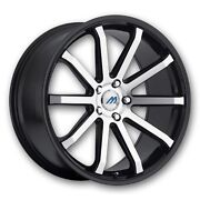 Mach M10 20 Inch 2crave Black Machine Wheels And Tires Fit 5 X 114.3 Great Deals