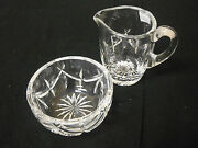 Two Piece Set Waterford Crystal Lismure Creamer And Open Sugar Bowl No Box