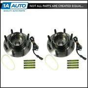Motorcraft Front Wheel Hubs And Bearings Pair Set For Super Duty 4wd 4x4 W/ Abs