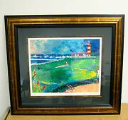 Framed Leroy Neiman Original Signed Serigraph 18th At Harbour Town Golf Suite