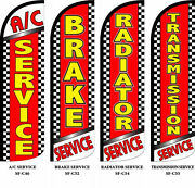 Auto Repair Industry Four 4 Swooper Feather Flag Banner Sign Kits With Hardwar