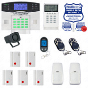 Wireless Home Security System - Lcd Burglar Fire Alarm House Auto-dialer New A04