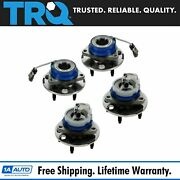 Trq Wheel Hub And Bearing Front And Rear Kit Set Of 4 For Buick Chevy Olds Pontiac