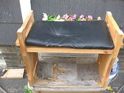 Vintage Handmade Wooden High/low Sitting Chair With Pad Rare Design