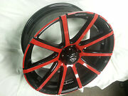22 Inch White Diamond Black Red Wheels Rims And Tires Fit 6 X 139.7 Great Deals