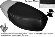 White And Black Custom Fits Generic Cracker 50 Dual Leather Seat Cover
