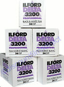 5 X Ilford Delta 3200 35mm 36exp Cheap Black And Whiite Film By 1st Class Post