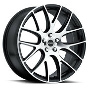 20 Inch Strada Fuso Black M Wheels Rims And Tires Fit 5 X 114.3 Great Deals