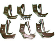Consew Sewing Machine 206rb 225 226 Welting Piping Walking Foot Set 6 Pairs