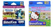 New Vtech Innotab Lot Of 2 Hello Kitty And Monsters University Games