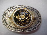 Prospector Belt Buckle With 24k Gold 3-3/8th Inches Long And 2-3/8th Inches Wide