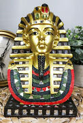 Golden Mask Of King Tut Statue 8h Egyptian Pharaoh Vulture And Cobra Crown Bust