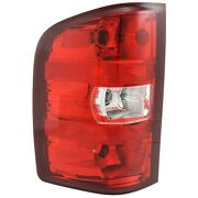 Halogen Tail Light For 2007-2013 Chevy Silverado 1500 Left Clear/red W/ Bulbs