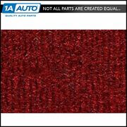 For 1975-80 Chevy K20 Truck Crew Cab Cutpile 4305-oxblood Complete Carpet Molded