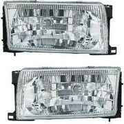 Headlight Set For 96-98 Nissan Quest Mercury Villager Left And Right W/ Bulb