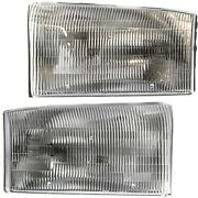 Headlight Set For 99-2001 Ford F-250 Super Duty Left And Right Side W/ Bulb