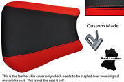 Black And Red Custom 00-01 Fits Yamaha 1000 Yzf R1 Real Leather Seat Cover