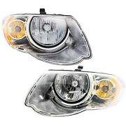 Headlight Set Lh And Rh For 2005-2007 Chrysler Town And Country 119 Inch Wheelbase