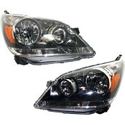 Headlight Set For 2005 2006 2007 Honda Odyssey Left And Right With Bulb 2pc