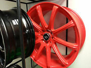 18 X 8.0 White Diamond 3195 Red Wheels And Tires Fit 4 X 100 Great Deals