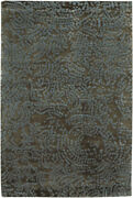 5x8 Surya Hand Knotted Wool Brown Swirls 7413 Area Rug - Approx 5and039 X 8and039
