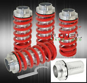 For 96 97 98 99 00 Honda Civic Dx Ex Scaled Coilovers Red Coil Springs Lowering