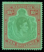 Bermuda 1942. Stanley Gibbons 119be. Broken Lower Right Scroll. Catalog Andpound2500