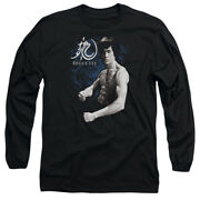 Bruce Lee Martial Arts Dragon Stance Adult Long Sleeve T-shirt Tee