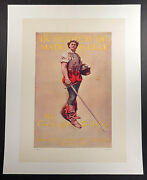 George Gibbs 1901 Linen-backed Vintage Poster In Search Of Mademoiselle