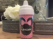 Minnie Mouse Personalized Sippy Cups Minnie Cups Pink Minnie Sippy Cup