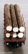 Ho Very Detailed- 6 Pc- 3/8 R X 4-3/8 L Real Wood Logs Only For 34and039 Flat Car