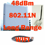 2 Miles Range 48dbm Wifi Usb Wireless Range Booster Antenna Outdoor Cable Combo