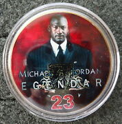 Michael Jordan 1 Oz 24 Kt .gold Plated Collectible Coin  3