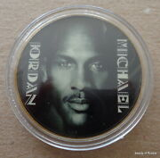 Michael Jordan 1 Oz 24 Kt .gold Plated Collectible Coin  13