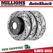 Front And Rear Drilled Slotted Disc Brake Rotors Set Of 4 For Nissan Sentra 2.5l